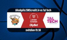'Delfi TV' basketbola tiešraidē - Jēkabpilī viesojas 'Tal Tech'