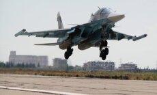 Первая группа российских самолетов вылетела с авиабазы в Сирии