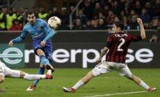 UEFA Eiropas līgas astotdaļfinālā 'Arsenal' izbraukumā pārspēj 'AC Milan'