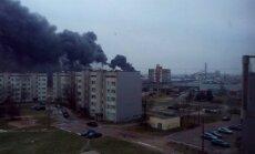 'Latvijas Finiera' ugunsgrēkā vienam cietušajam pirmās pakāpes apdegumi