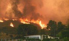 Foto: Losandželosā plosās pilsētas vēsturē lielākais savvaļas ugunsgrēks