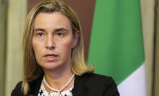 Mogerīni: sankciju pret Krieviju Sīrijas jautājumā nebūs