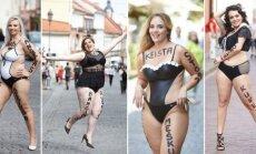 На улицы Вильнюса вышли полные модели и справились с первым испытанием