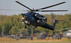 Foto: Cik draudīga izskatās Krievijas helikopteru flote