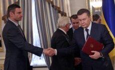 Krievija nav parakstījusi Kijevas vienošanos, taču vēlas miermīlīgu iznākumu