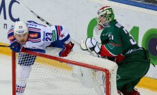 SKA Aleksey Ponikarovsky and Ak Bars goalie Anders Nilsson