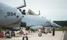 Foto: Mičiganas Nacionālās gvardes 'A-10' lidmašīnas piedalās 'Saber Strike' mācībās