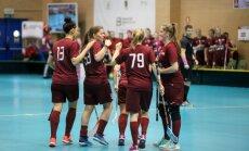 Latvijas sieviešu florbola izlase PČ kvalifikācijā uzvar mājinieces spānietes