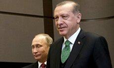 Putins un Erdogans pilnībā atjauno valstu draudzību