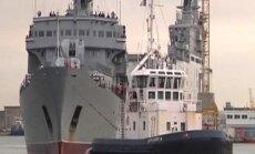 Video: Krievijas jūrnieki ierodas Francijā apgūt 'Mistral' desanta kuģa lietošanu