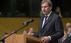 ES jārespektē valstis, kuras nevēlas tai tuvināties, uzsver Hāns