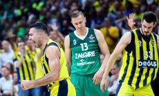 Foto: 'Žalgiris' basketbolisti ULEB Eirolīgas pusfinālā piekāpjas 'Fenerbahce'