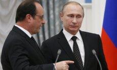 Olands vēl domā, vai uzņemt Putinu Parīzē; piesauc apsūdzības kara noziegumos