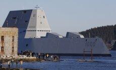 ASV draudīgākais iznīcinātājkuģis sāk jūras izmēģinājumus