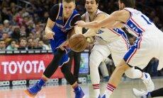 Porziņģim 18 punkti 'Knicks' zaudējumā '76ers'