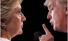 Aptauja: Tramps vai Klintone – par kuru kandidātu balsotu Latvijā?