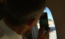 Video: NATO iznīcinātāja pilots debesīs virs Baltijas sveicina Stoltenbergu