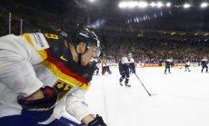 Latvijas pretiniece Vācija arī otrajā pārbaudes spēlē zaudē Slovākijas hokejistiem