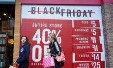 'Melnās piektdienas' iepirkšanās trakums ASV lēnām iznīkst