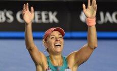 Kerbere pārspēj titulēto Serēnu Viljamsu un pirmoreiz karjerā triumfē 'Grand Slam' turnīrā