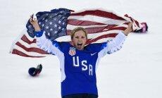 Video: ASV hokejistes līksmi svin olimpiskās zelta medaļas