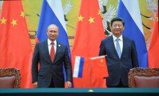 Krievija un Ķīna noslēdz enerģētikas līgumus 500 miljardu ASV dolāru apmērā