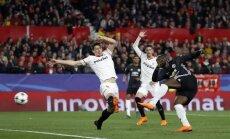'Sevilla' dominē, bet nespēj Čempionu līgas astotdaļfināla spēlē uzvarēt Mančestras 'United'