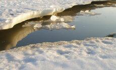 Ūdens līmenis upēs daudzviet pazeminājies