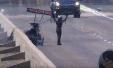 Video: Pilots pēc avārijas ar 486 km/h mierīgi izkāpj no sava dragstera