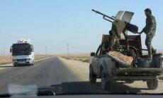 Ankarai lojālie Sīrijas kaujinieki sākot atkāpties; paši noraida ziņas
