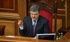 Porošenko: vissvarīgākais ir izveidot robežkontroli ar Krieviju