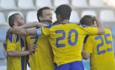 Mujeci divi vārti sekmē 'Ventspils' uzvaru pār 'Skonto' nozīmīgā virslīgas spēlē
