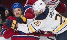Girgensona 'Sabres' nejaudā iemest ripu 'Canadiens' hokejistu vārtos un zaudē