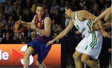 Eirolīgas 'play off' turnīrs sākas ar dramatisku 'Barcelona' basketbolistu uzvaru