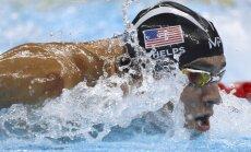 Felpss turpina pārrakstīt olimpisko spēļu vēsturi, izcīnot 22. zelta medaļu