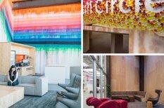 """Новый офис Facebook изнутри: Сад для птиц, """"разлитая"""" краска и комнаты """"вырви глаз"""""""