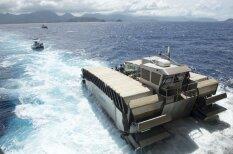Морпехи США испытали 200-тонный транспорт-амфибию будущего (видео)