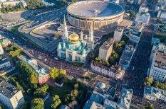 ФОТО: Десятки тысяч мусульман празднуют Курбан-Байрам в Москве. И вот как это выглядит