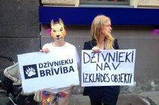 Plakāti, ar ko protestētāji uzrunā cirku