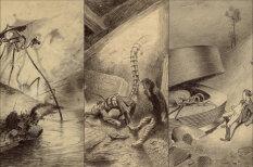 Потаенный страх людей перед вторжением марсиан в картинках 100-летней давности
