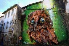 Португальский художник превращает мусор в забавные трехмерные скульптуры