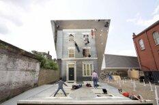 Spoguļu māja, kas ļauj imitēt kritienu no otrā stāva