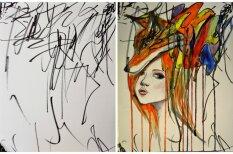 Mātes un meitas gleznošanas mijiedarbība