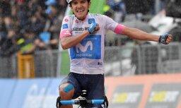 Ekvadoras riteņbraucējs Karapass izcīna uzvaru 'Giro d'Italia' astotajā posmā