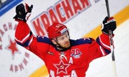 Maskavas CSKA aizsargam piespriež astoņu spēļu diskvalifikāciju