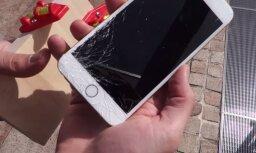 ВИДЕО: Энтузиасты устроили первый краш-тест Apple iPhone 6