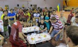 Rīgā aizvadīts Eiropas čempionāts galda hokejā