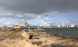 Sākta krasta nostiprinājuma pārbūve pie Ventspils ostas Dienvidu mola