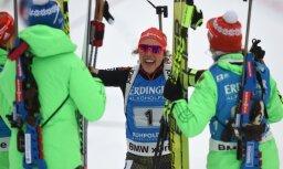 Laura Dahlmeier finish women relay Biathlon
