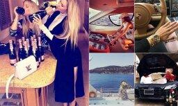 """Кадры из жизни """"золотой молодежи"""" в Швейцарии: лимузины, девушки, шампанское"""